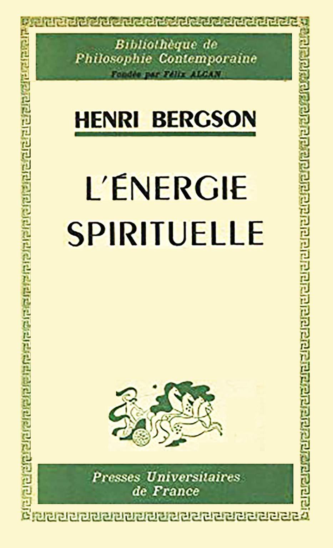 كتاب الطاقة الروحية لـ هنري برغسون